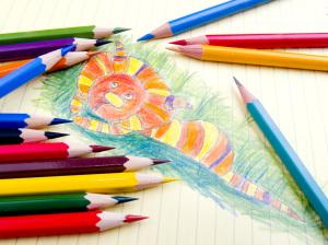 Color pencils and sketch